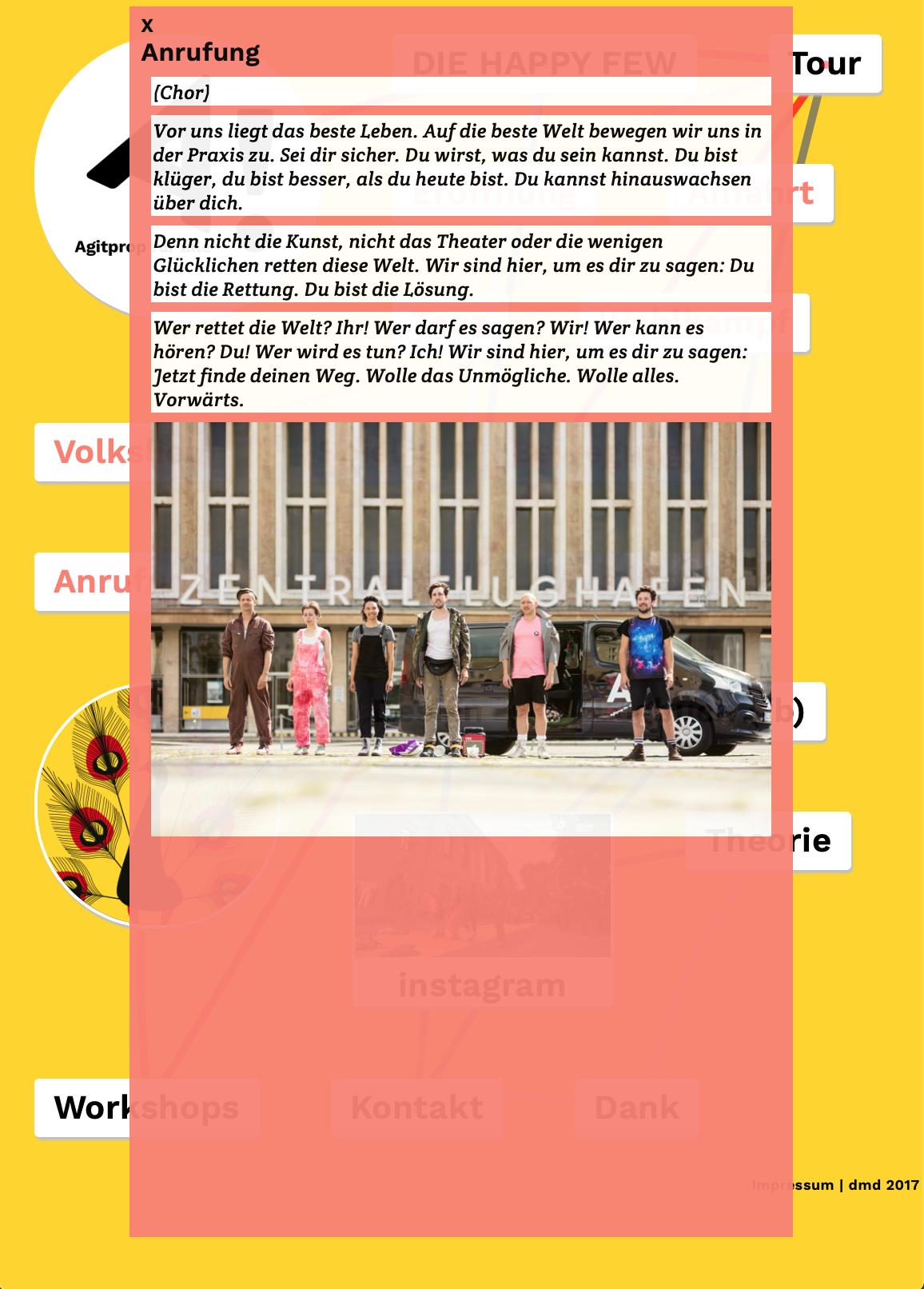 agitpropfueralle.de – Ansicht der Webseite